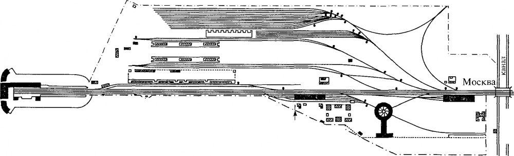 Схема станции Петербург, 1851