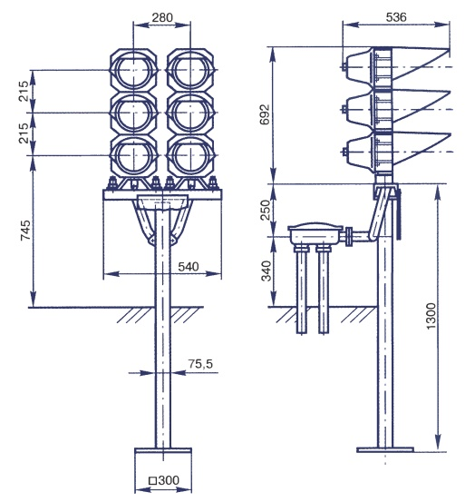 схема самого светофора